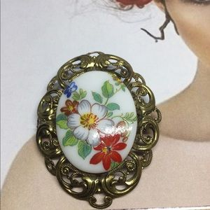 West Germany floral brooch